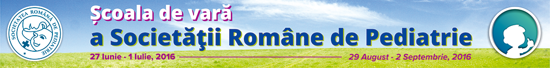 Scoala de vara a Societatii Romane de Pediatrie Logo
